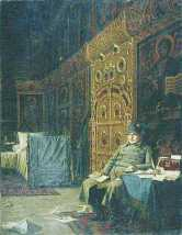Napoleon camping in an Orthodox church
