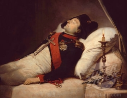 dead Napoleon  wax figure