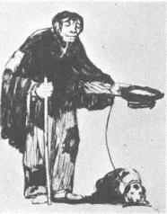 goya beggar with dog