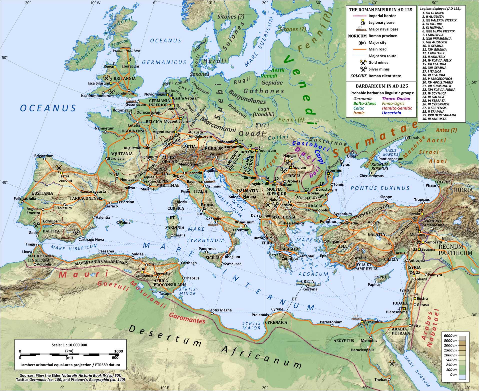 El Imperio Romano en Tiempos del Emperador Trajano