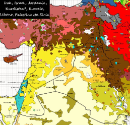map of middle east languages