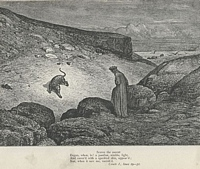 Dante facing the leopard