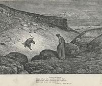 Dante facing the leopard