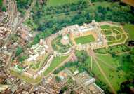 Windsor castle seen from air