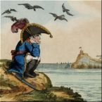 napoleon at elba cartoon