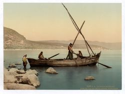 fishermen on the sea of galilea