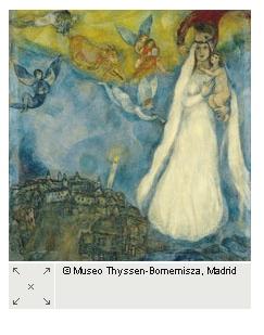 Chagall's Madonna Thyssen museum Madrid