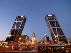 KIO towers Madrid Spain