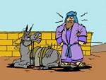 Balaam and donkey cartoon