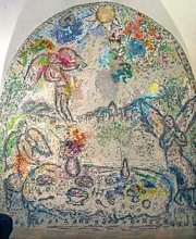 Chagall angels serving a meal