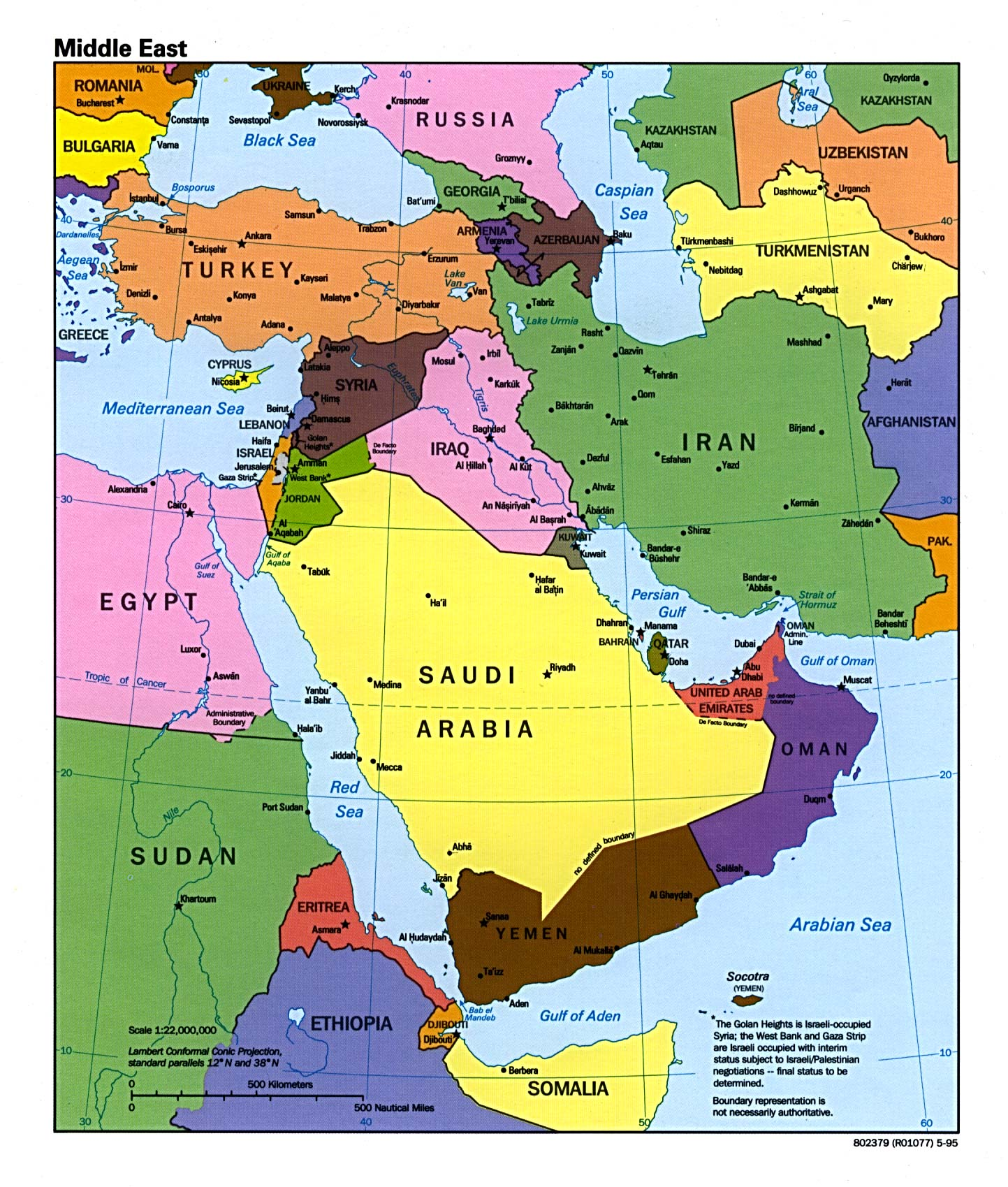 The Middle East Caption O A R S - Middle east political map 1900