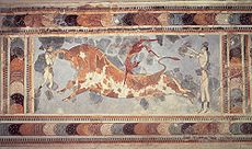 knossos playing with a bull