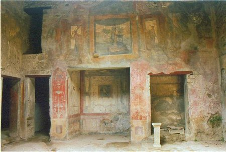 house wall Pompei-fresco