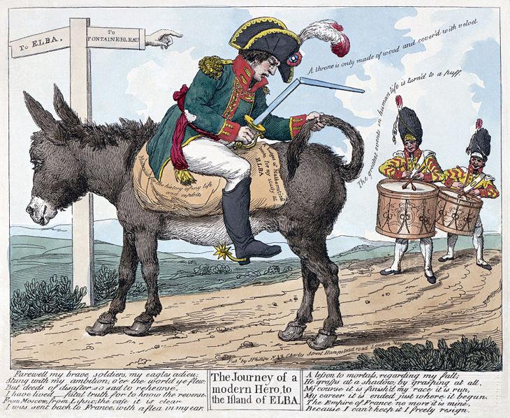 Napoleon cartoon elba exile cartoon 20of 20napoleon 20730x599