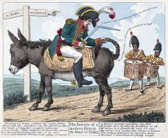 Napoleon cartoon Elba exile