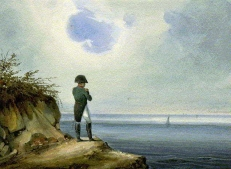 Napoleon exiled cartoon