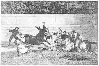 Goya bullfight death of Pepe Hillo