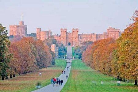 Windsor castle front fassade