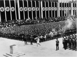 Munich Olympics with Nazi decor
