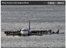 plane in the Hudson
