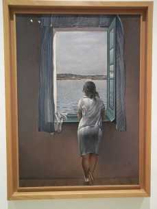 Dalí's Girl at Window, Queen Sofia museum Madrid