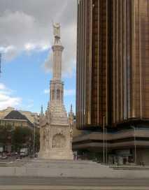 Columbus monument Madrid Spain