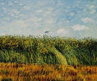 Wheat field with lark Van Gogh